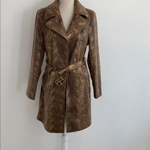 Members Only Snake Print Trench size L